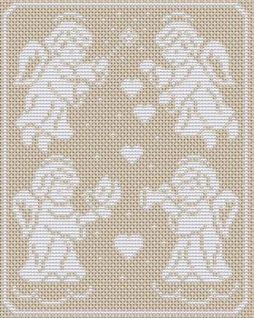 Добавлена схема вышивки ангелы в