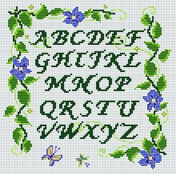 Категория: Алфавит Просмотров: 354 Дата.  Вышивка крестиком - Алфавит природа.  08.12.2011.