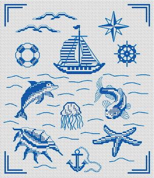 Добавлена схема вышивки крестом